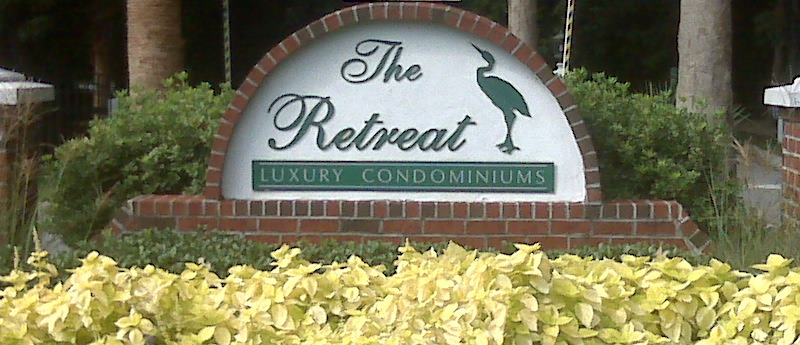 Retreat @ Riverland Entrance Sign